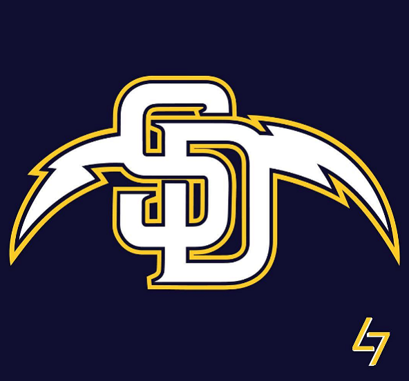 Chargers Padres logo