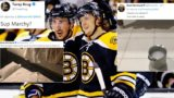 Boston Bruins Boston Bruins Torey Krug Brad Marchand