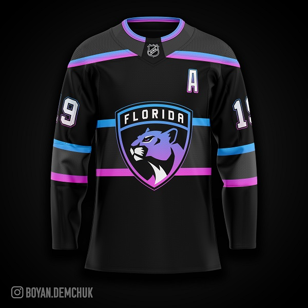 Chandails concepts LNH sombres dark panthers
